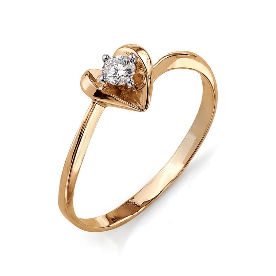Кольцо изкрасного золота сбриллиантом