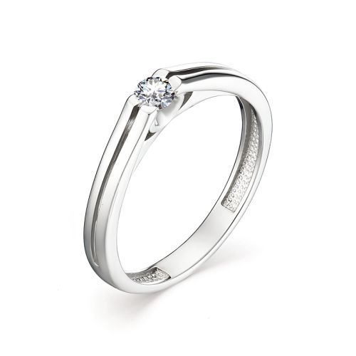 Кольцо избелого золота сбриллиантом