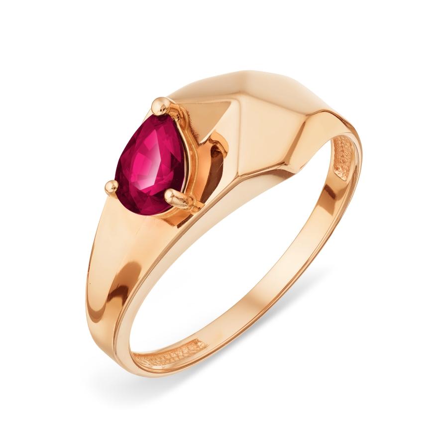 Кольцо иззолота срубином
