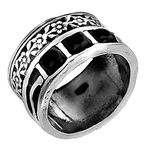 Кольцо изсеребра сониксом