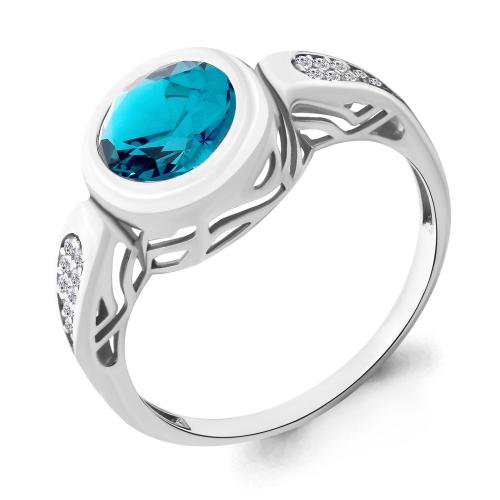 Кольцо изсеребра Нанокристалл цветной