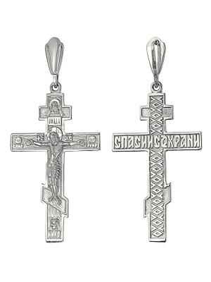 Крест избелого золота