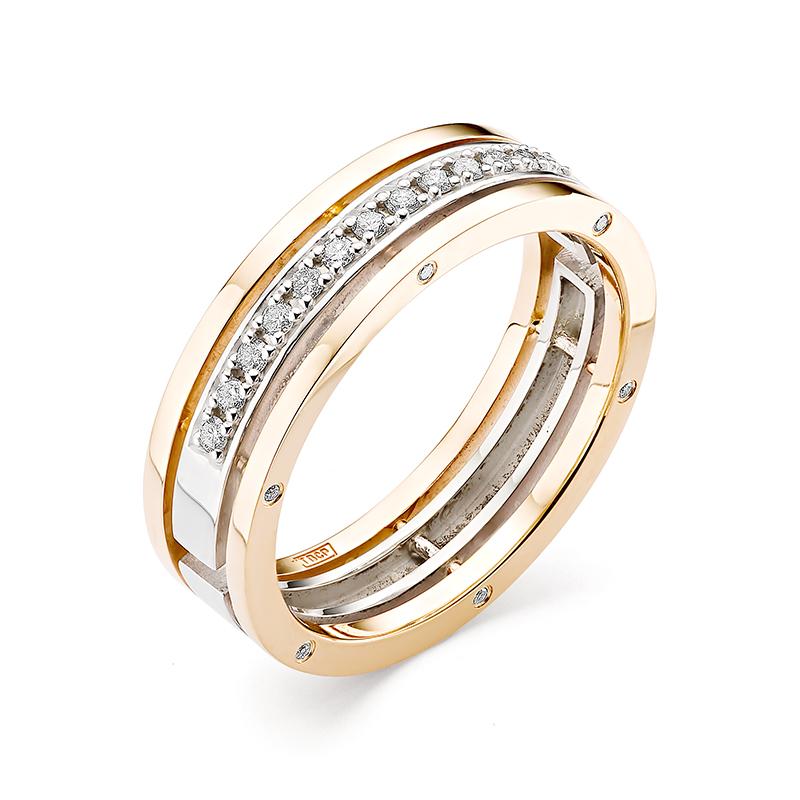 Кольцо обручальное иззолота сбриллиантом