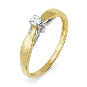 Кольцо изжелтого золота сбриллиантом