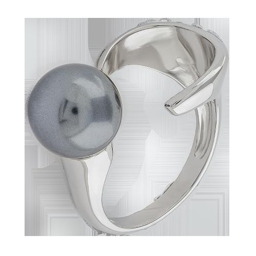 Кольцо изсеребра сжемчугом