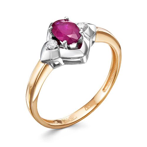Кольцо иззолота сбриллиантом ирубином