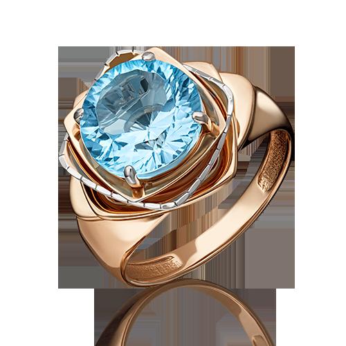 Кольцо иззолота стопазом