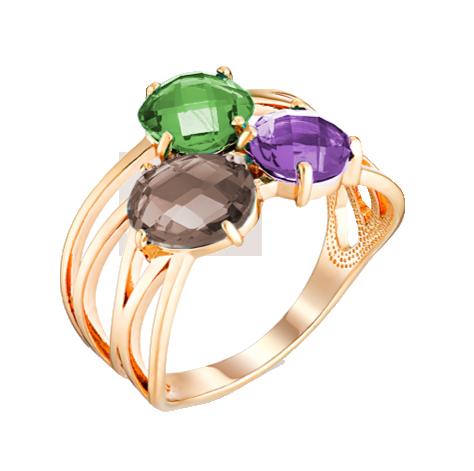 Кольцо иззолота смиксами