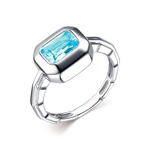 Кольцо изсеребра стопазом