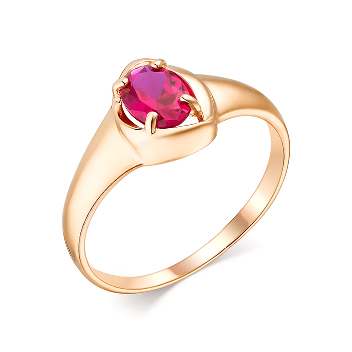 Кольцо иззолота сНанокристаллом цветным
