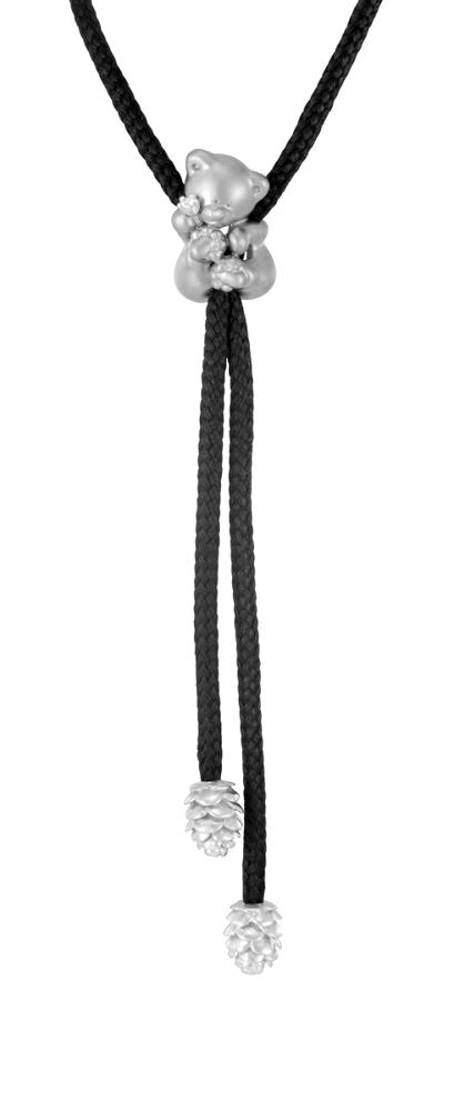 Колье изсеребра сфианитом