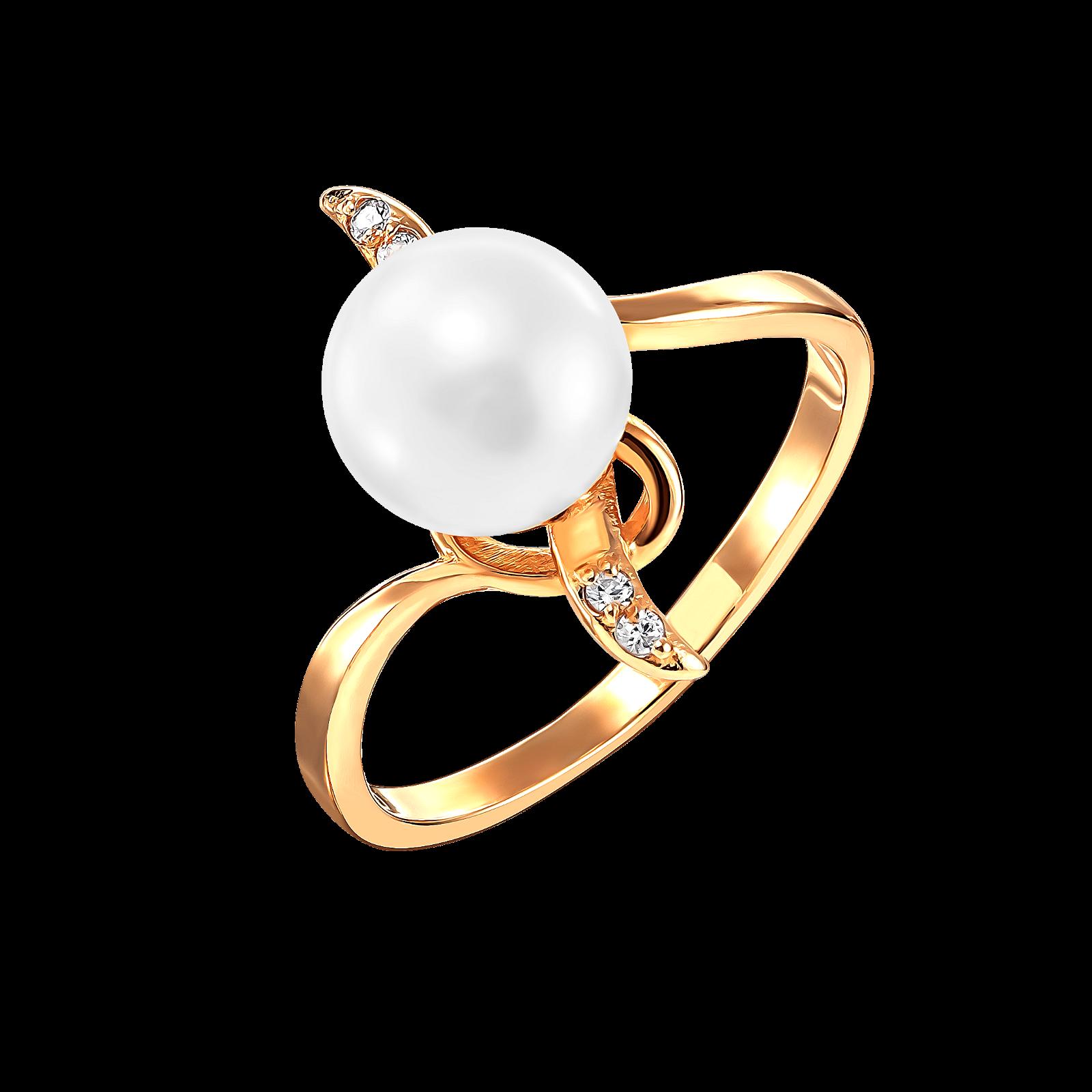 Кольцо иззолота сжемчугом