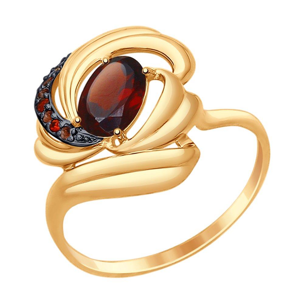 Кольцо иззолота сгранатом