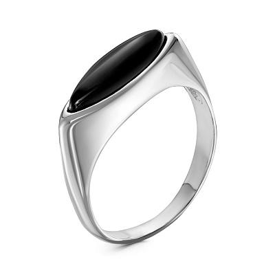 Кольцо изсеребра сагатом