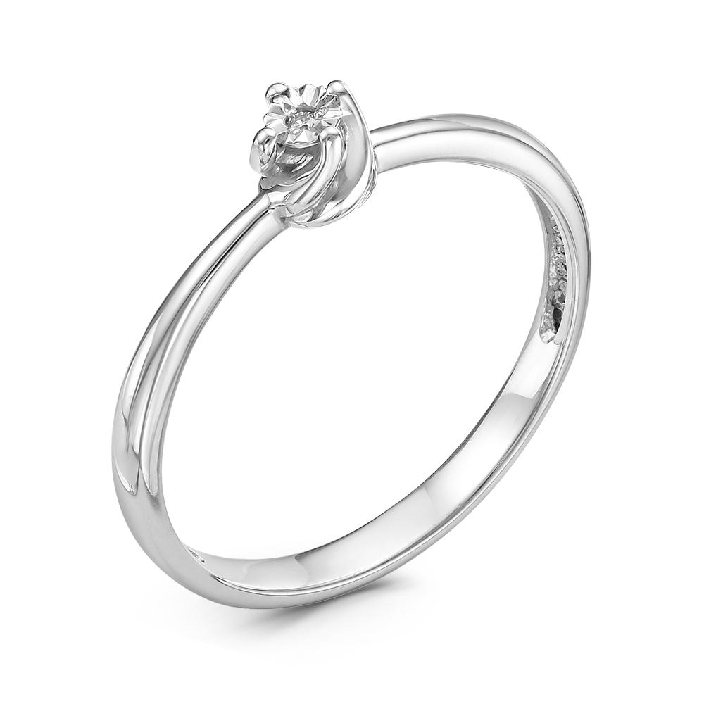 Кольцо изсеребра сбриллиантом