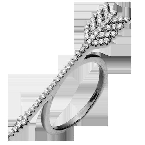 Кольцо изсеребра сцирконом