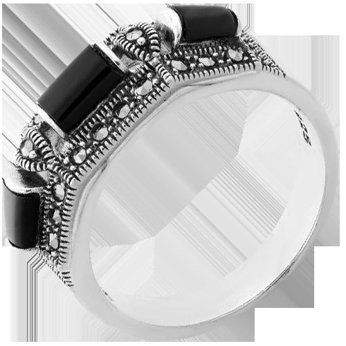 Кольцо изсеребра сониксом имарказитом